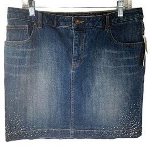 Tommy Hilfiger Womens Jean Skirt Stretch Denim 12